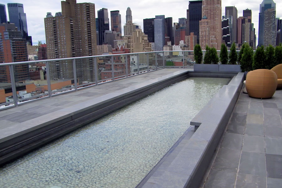 Hotel NYC New York, New York Outdoor Spa and Reflecting Pool ...