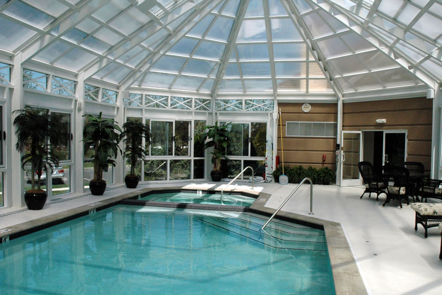 Clubhouse Wall , New Jersey Commercial Pool Design by Omega Pool ...