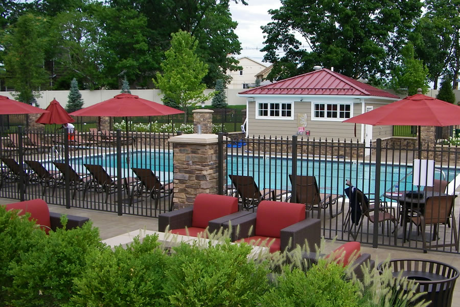 outdoor pool wading area commercial pool design by omega pool structures inc