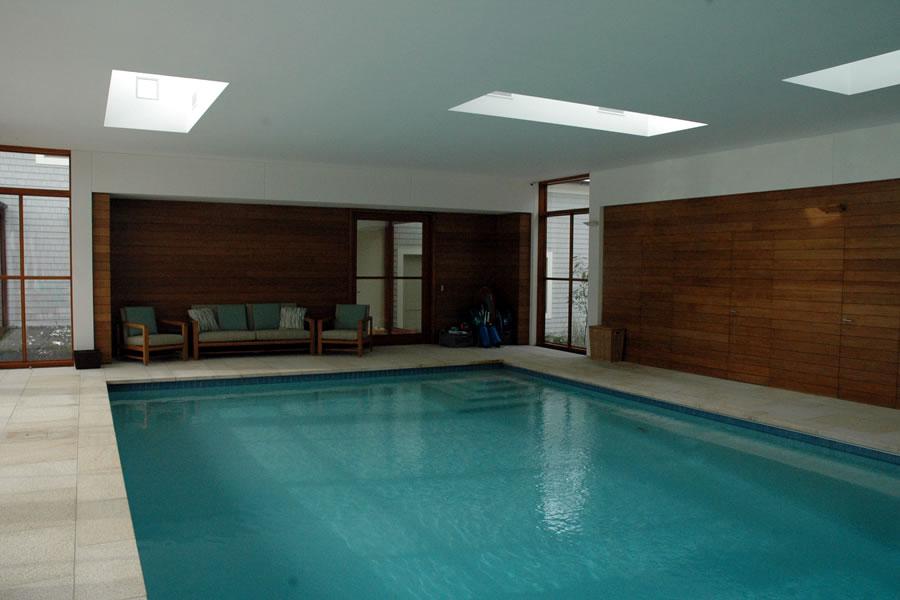 Contemporary Indoor Pool Boston Massachusetts Residential