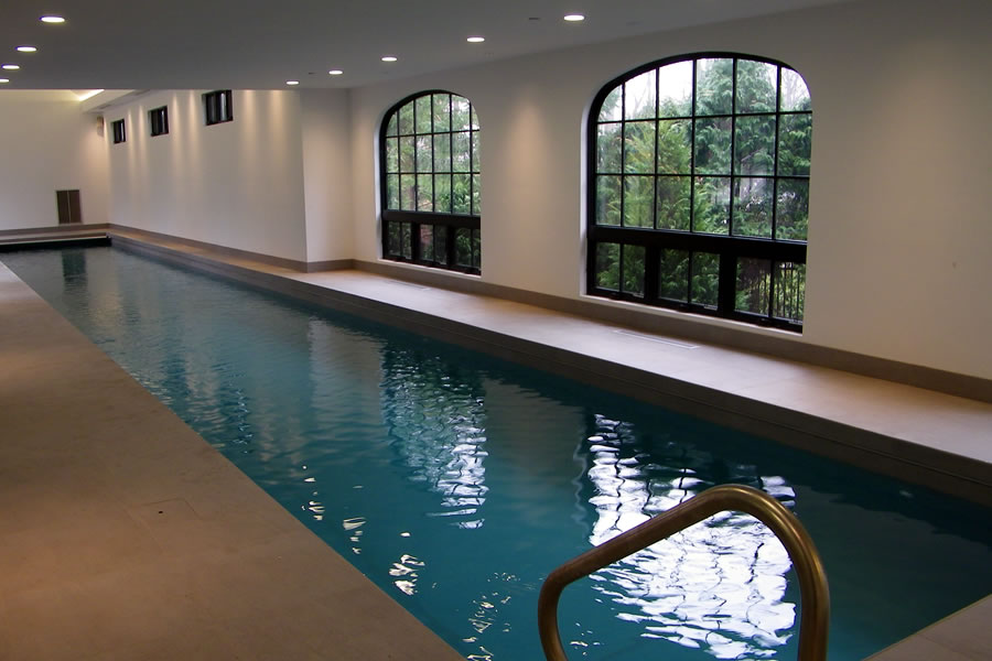 Indoor Lap Pool and Spa with Pool Cover Morristown New Jersey ...