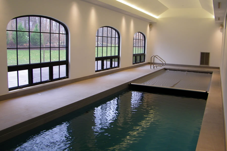 residential indoor lap pool. Indoor Lap Pool And Spa With Cover Residential Design By Omega Structures, Inc