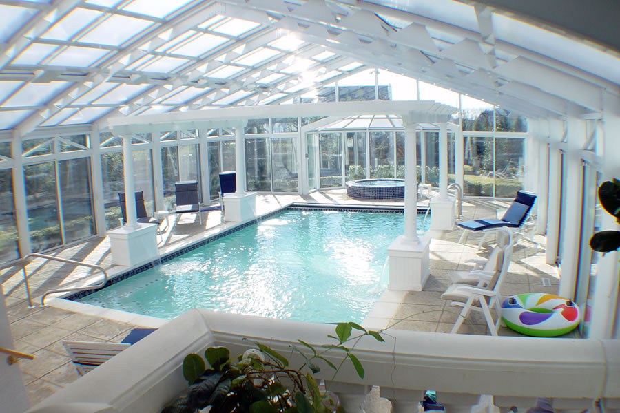 Indoor Pool, Spa and Sauna Marlboro, New Jersey Residential Pool ...