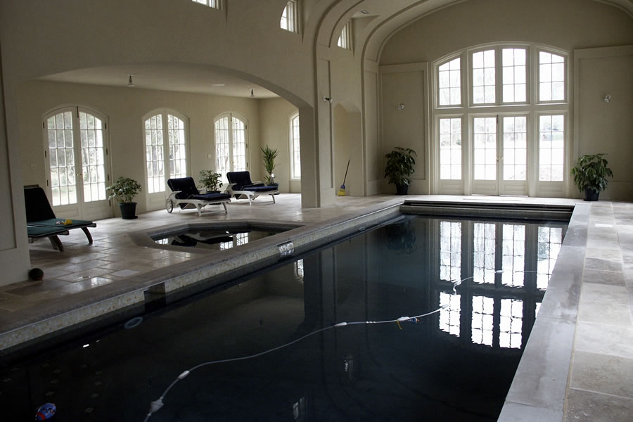 Indoor Rustic Pool New Vernon New Jersey Residential Pool